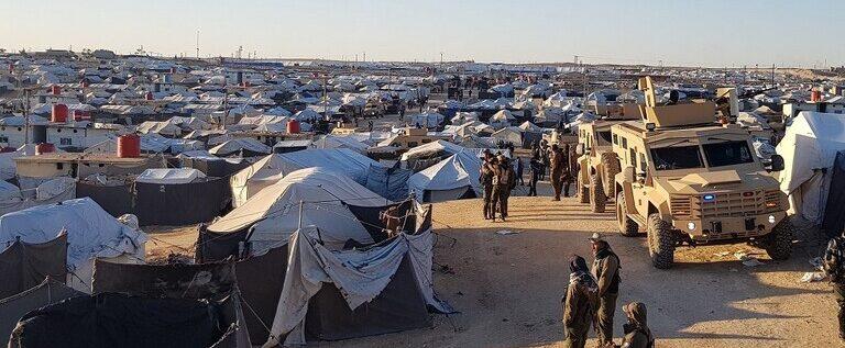 بدء حملة أمنية في مخيم الهول شمال سوريا
