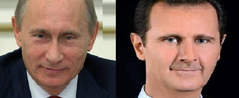 عما تحدث بوتين والأسد؟ تفاصيل مكالمة تمت بمبادرة الرئيس السوري