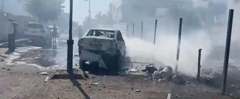 (بالفيديو) أثار القصف الفلسطيني على مدن إسرائيلية