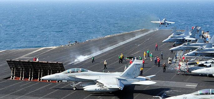 مصادرة شحنة أسلحة مجهولة الوجهة في بحر العرب من قبل الأسطول الخامس الأمريكي ..