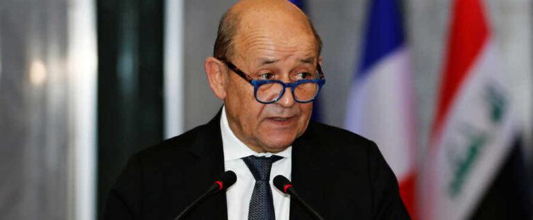 وزير خارجية فرنسا جان إيف لودريان يزور لبنان في 5 و6 مايو لبحث حل الأزمة السياسية
