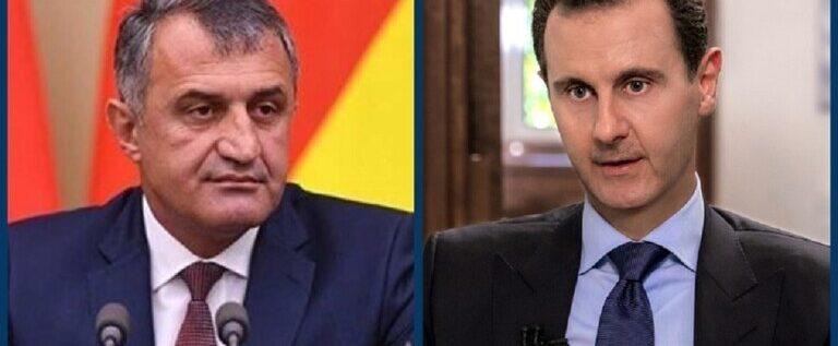 رئيس أوسيتيا الجنوبية يهنئ الرئيس الأسد بفوزه بالانتخابات الرئاسية