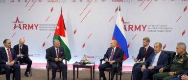 بوتين والملك عبد الله الثاني يبحثان الأوضاع في سوريا وأفغانستان